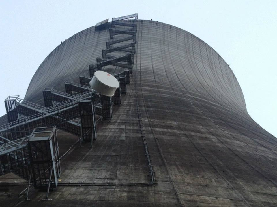 SAF radio deployed on nuclear power plant cooling tower